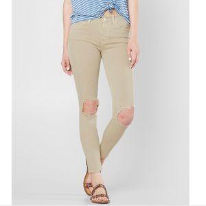 NWT Free People Busted Knee Khaki Skinny Jeans
